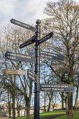 Tourist Information Sign, Buxton, Derbyshire