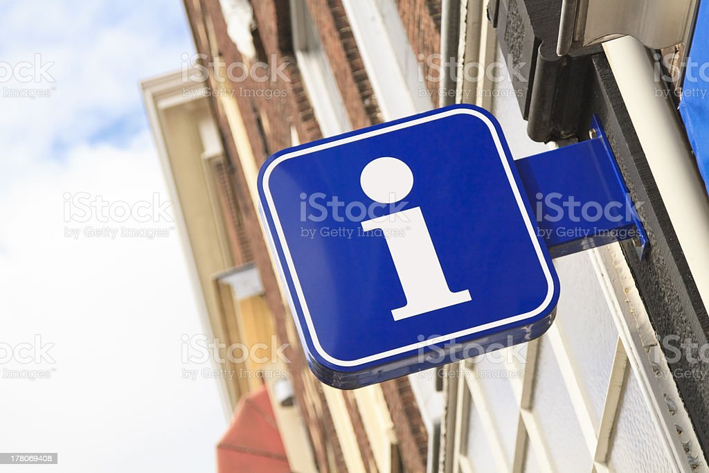 Tourist information sign stock photo