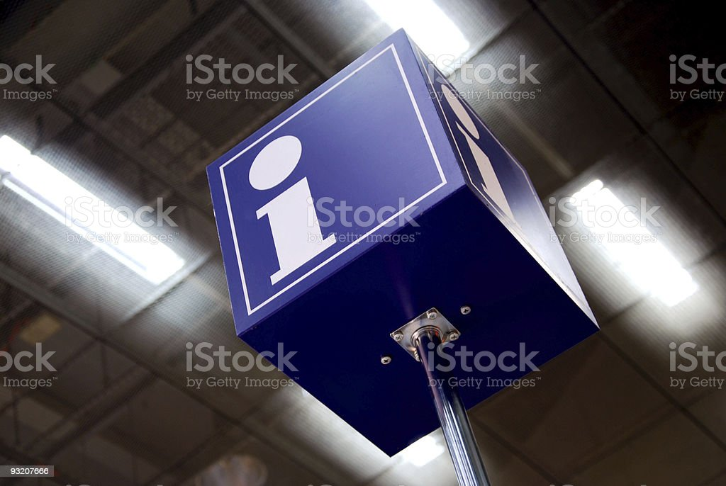 tourist information sign stock photo