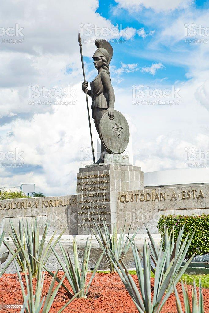Tourist monuments of the city of Guadalajara stock photo