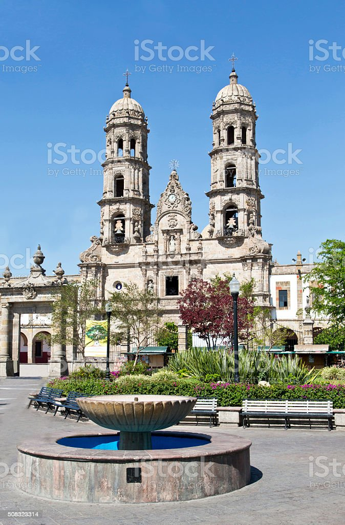 Tourist monuments of the city of Guadalajara stock photo