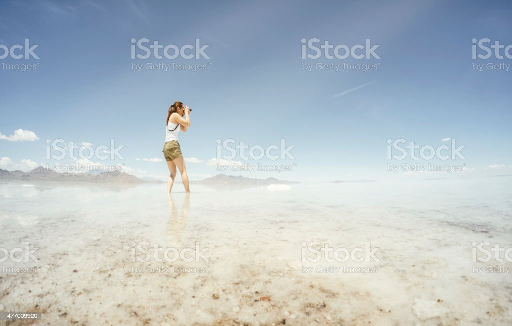 Tourist Nature Photographer stock photo