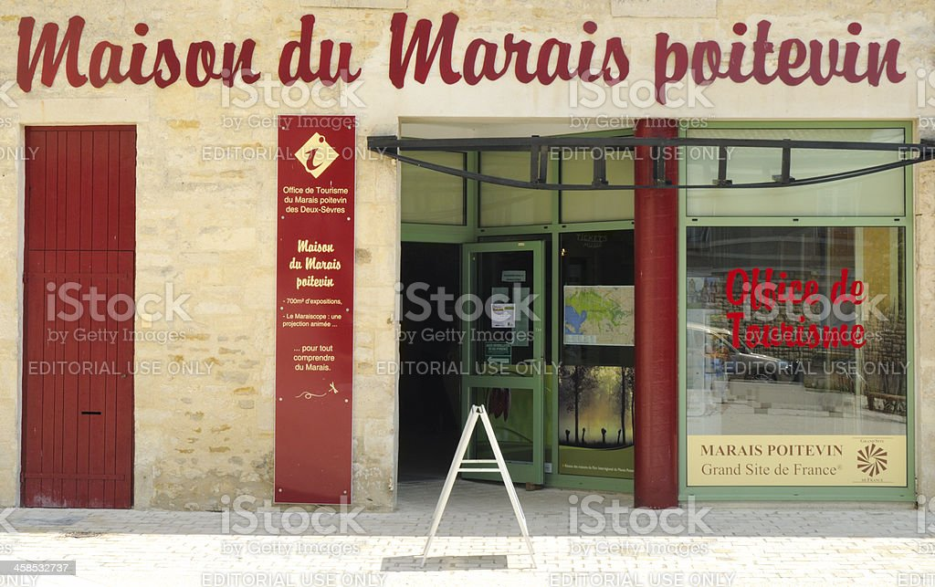 Tourist Office, Coulon, France stock photo