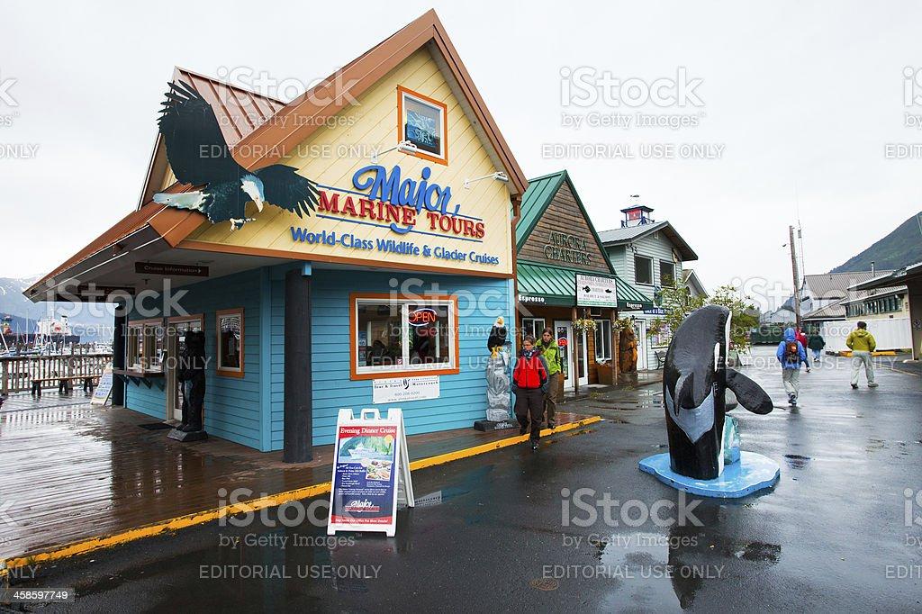 Tourist office in Seward, Alaska,USA..cute gift shop stock photo