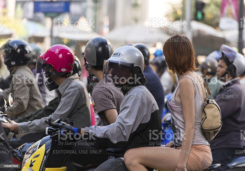 Tourist on Scootertaxi royalty-free stock photo