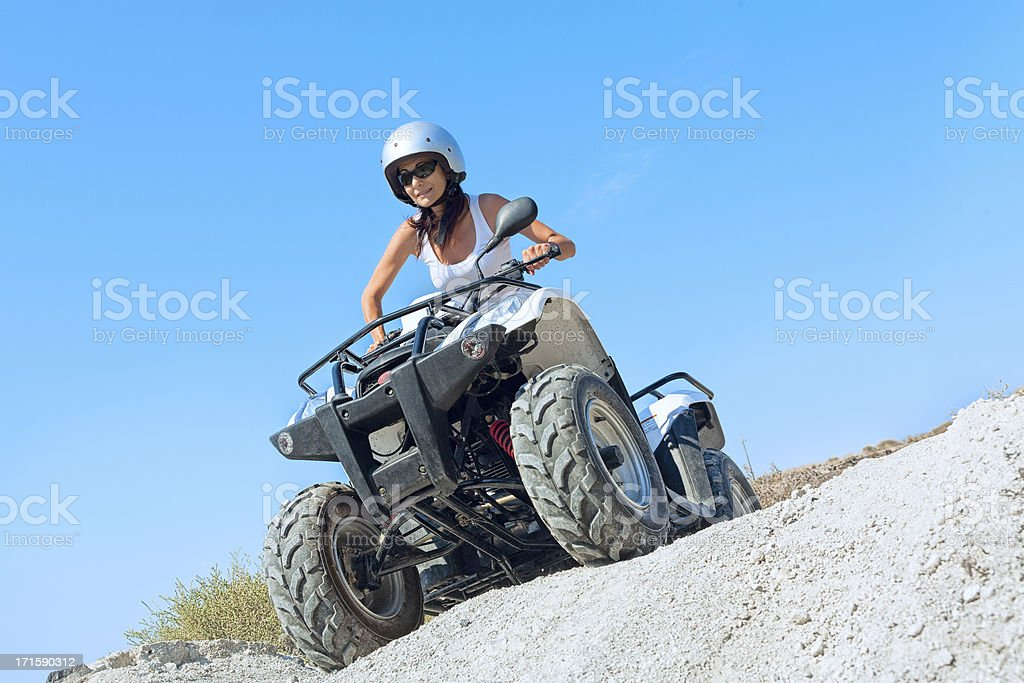 Tourist on the quad bike royalty-free stock photo