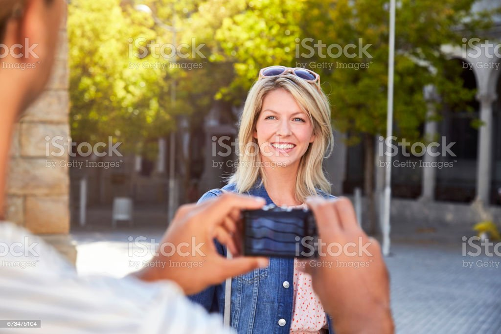 Tourist photo stock photo