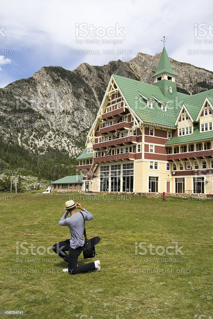 tourist photographing royalty-free stock photo