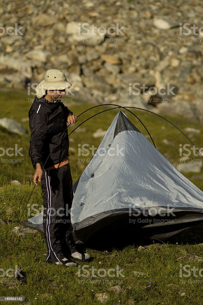 tourist places tent royalty-free stock photo