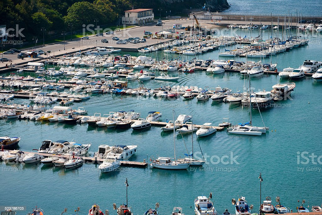 Tourist port stock photo