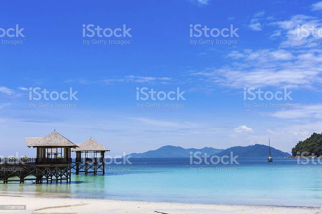 Tourist Resort and Tropical Islands stock photo