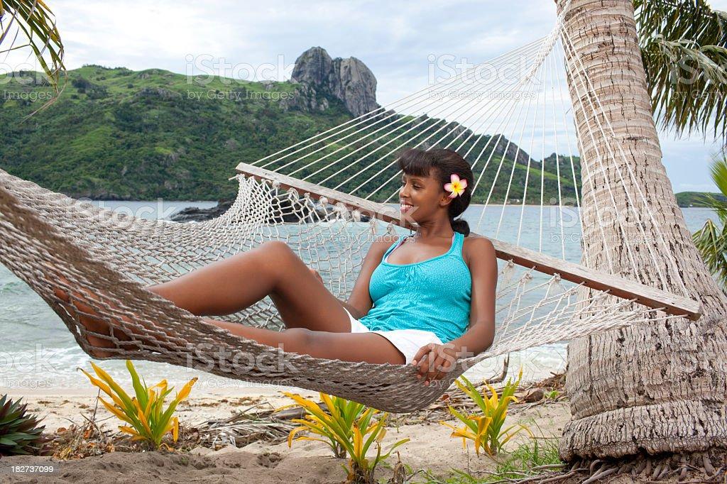 Tourist resort in Fiji royalty-free stock photo