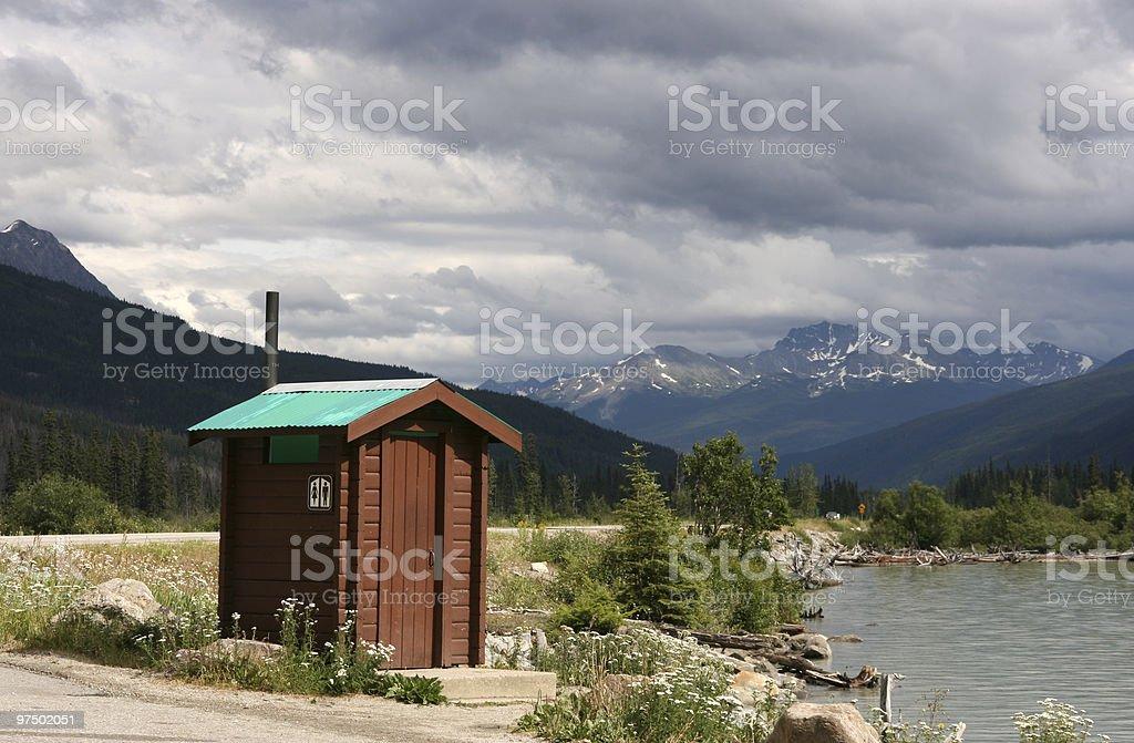 Tourist restroom stock photo