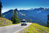 Tourist Road Trip at Olympic National Park, Washington, USA