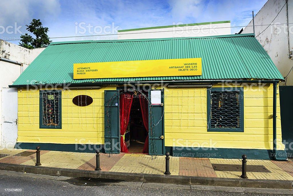 Tourist Shop in Saint Pierre, Martinique stock photo