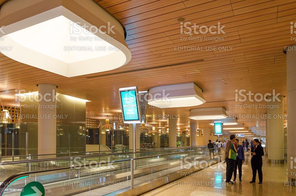 Tourist Shopping at Duty free in Chhatrapati Shivaji International Airport stock photo