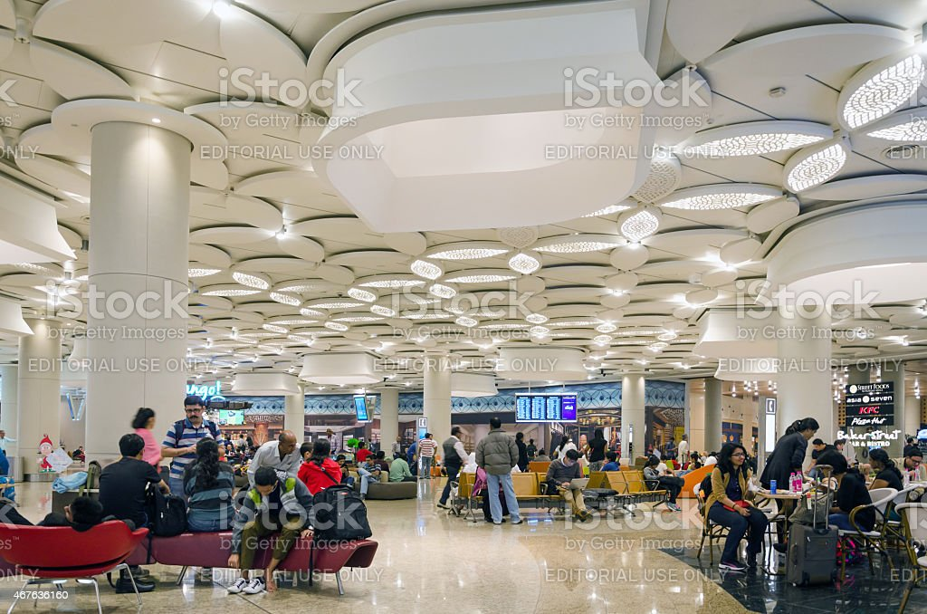 Tourist Shopping at Duty free zone in Chhatrapati Shivaji Airport stock photo