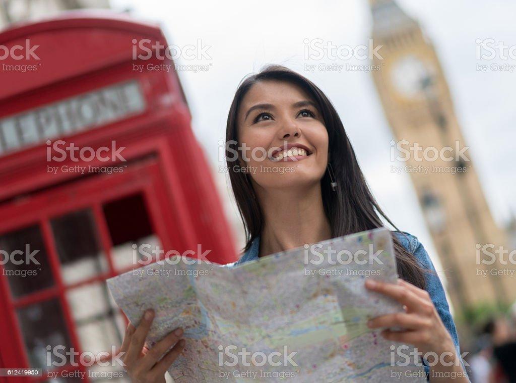 Tourist sightseeing in London stock photo