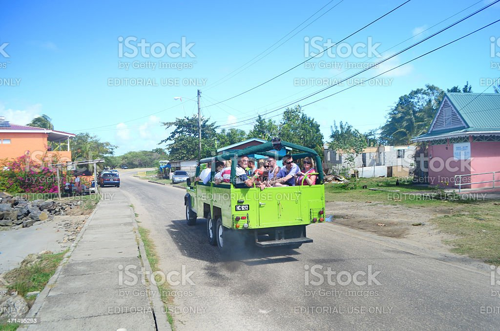 tourist sightseeing tour Gros Islet royalty-free stock photo