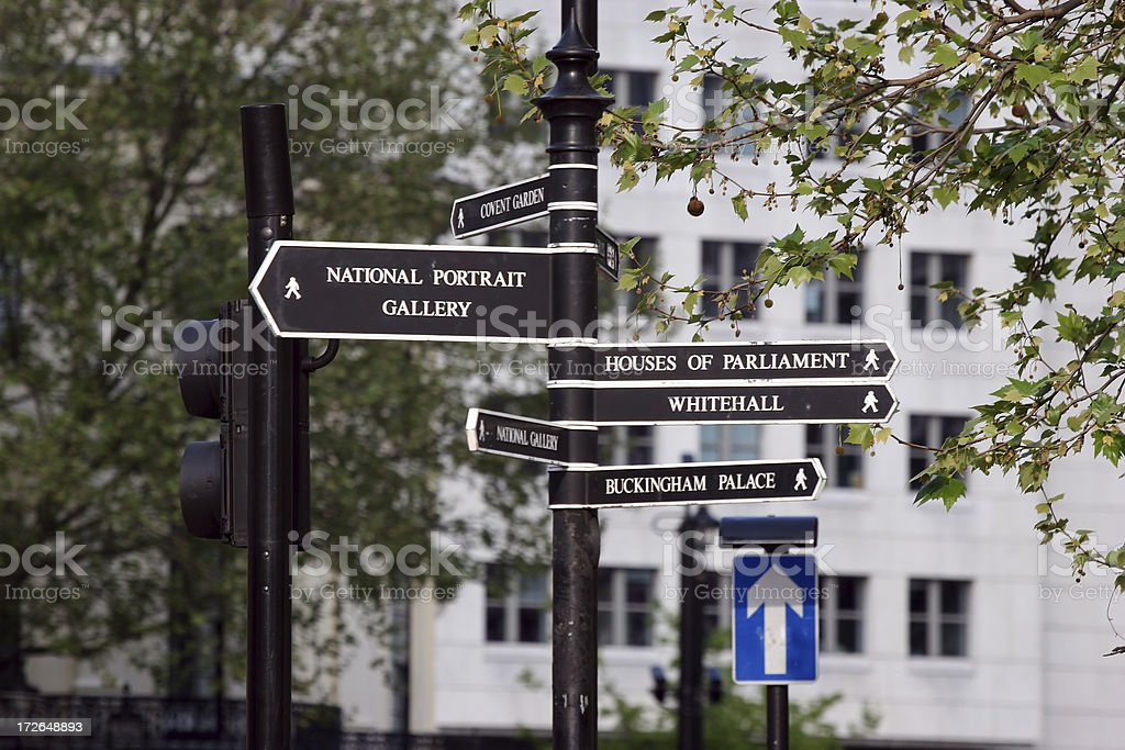 Tourist Signs royalty-free stock photo