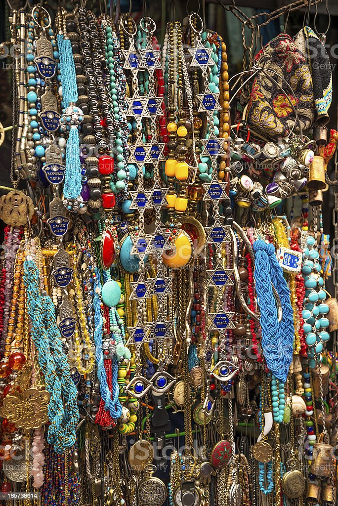 tourist souvenirs in jersualem israel royalty-free stock photo