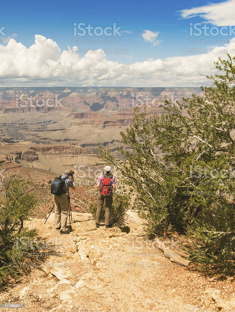 tourist take a photo in the grand canyon national park royalty-free stock photo
