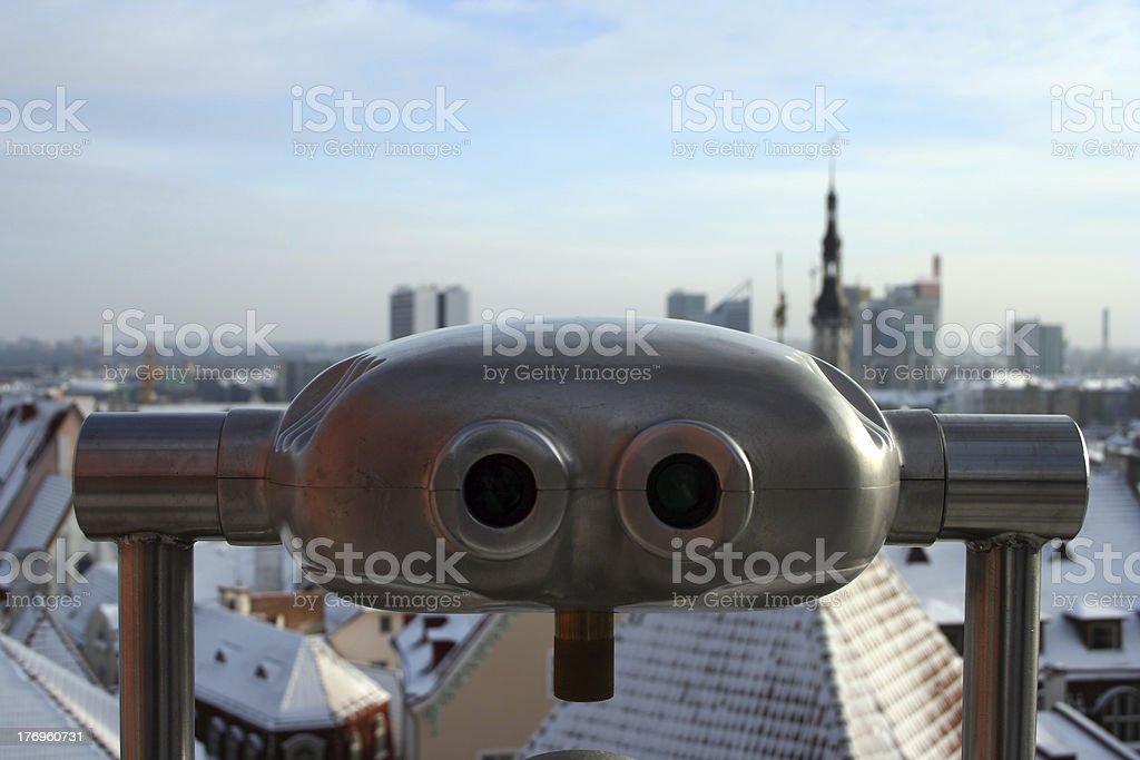 Tourist Telescope in Tallinn royalty-free stock photo