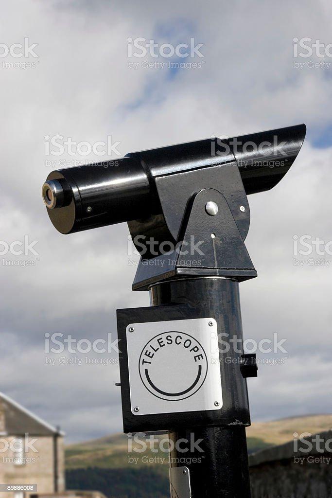 Tourist Telescope royalty-free stock photo