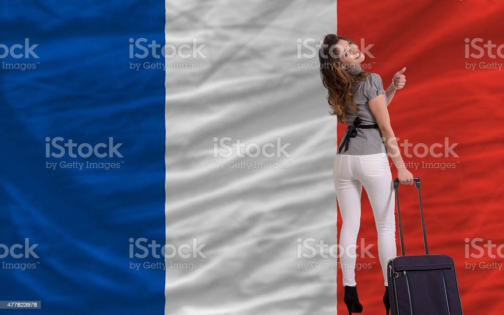 tourist travel to france stock photo