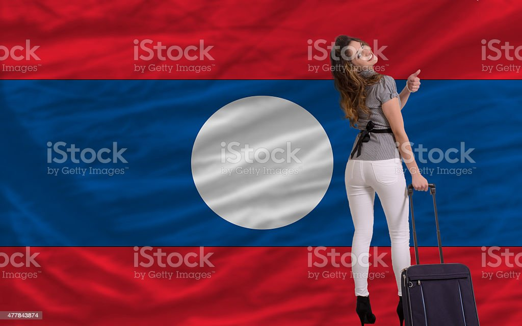 tourist travel to laos stock photo