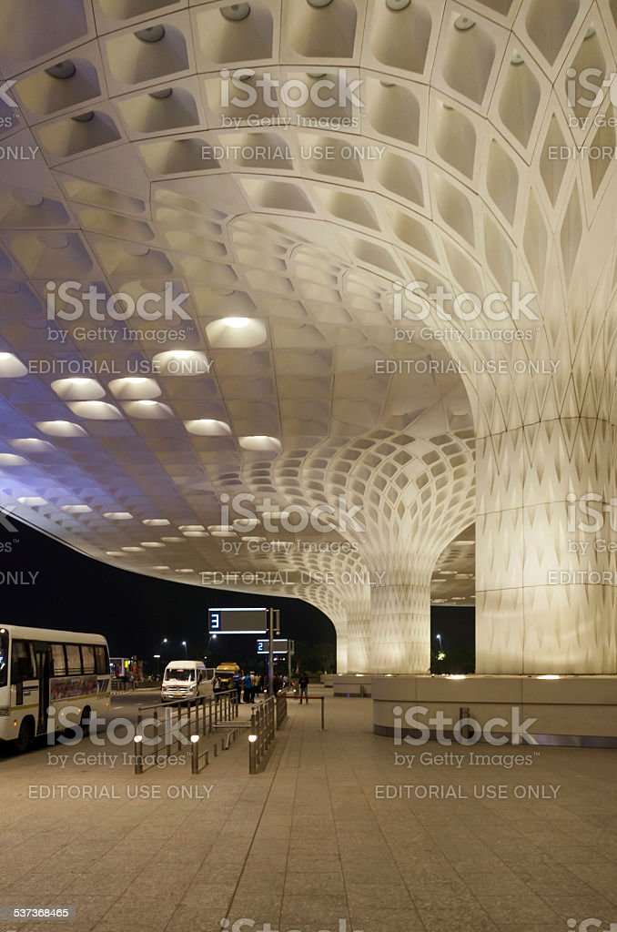 Tourist visit Chhatrapati Shivaji International Airport. stock photo