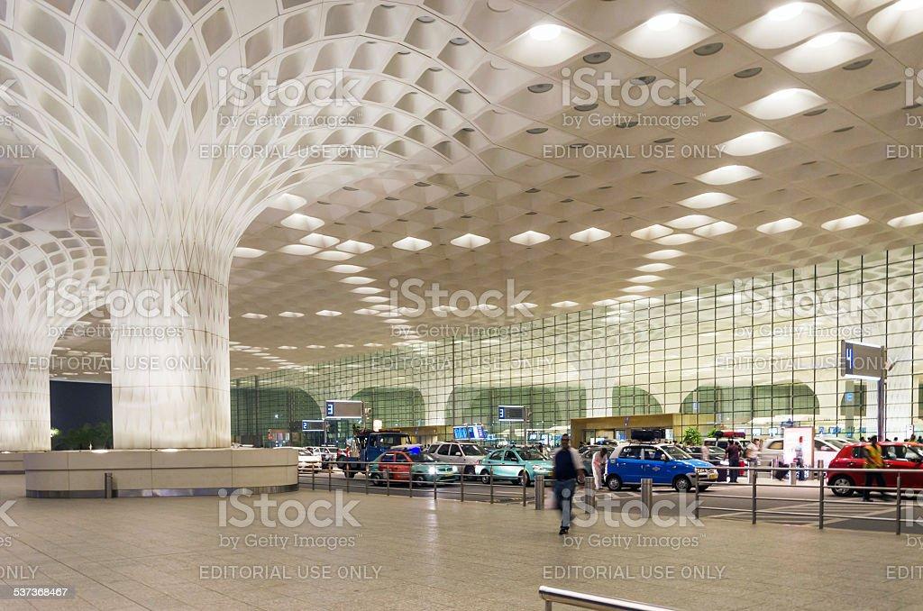 Tourist visit Chhatrapati Shivaji International Airport stock photo