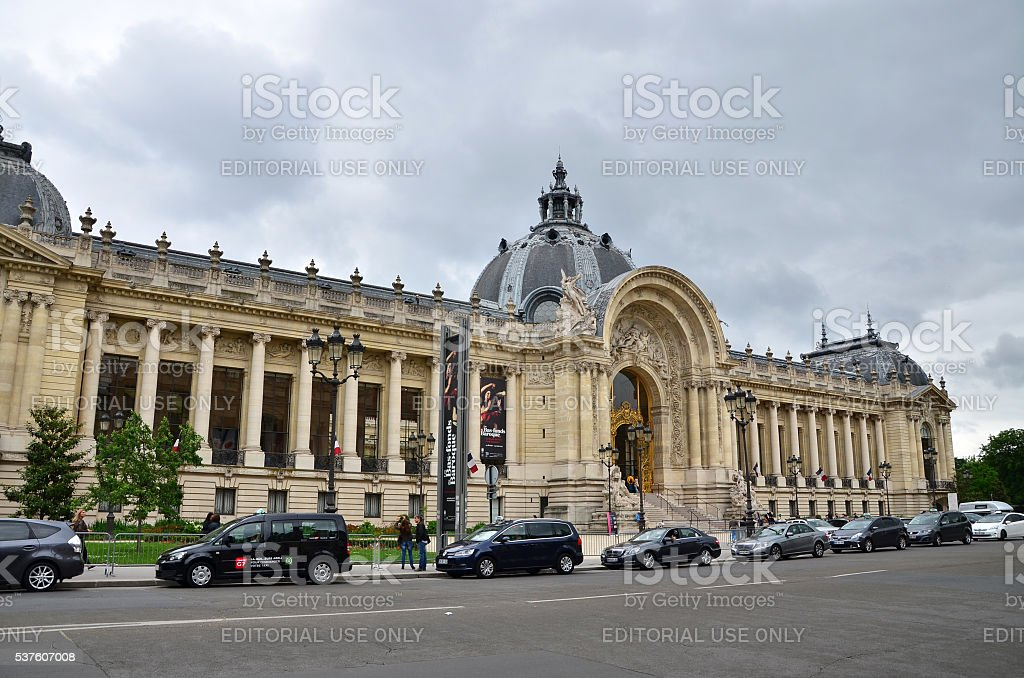 Tourist visit Great Palace in Paris stock photo