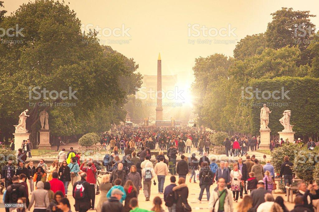 Tourist visiting Paris stock photo