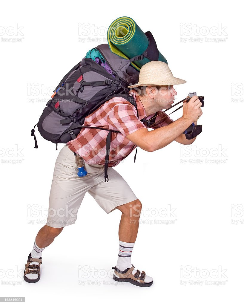 tourist with camera royalty-free stock photo