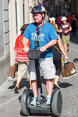 tourist with Segway in Florence, Italy