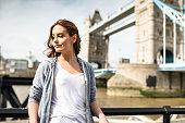tourist woman portrait in london