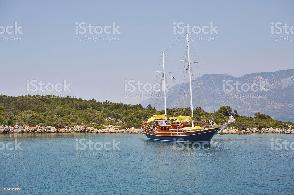 Tourist yacht royalty-free stock photo