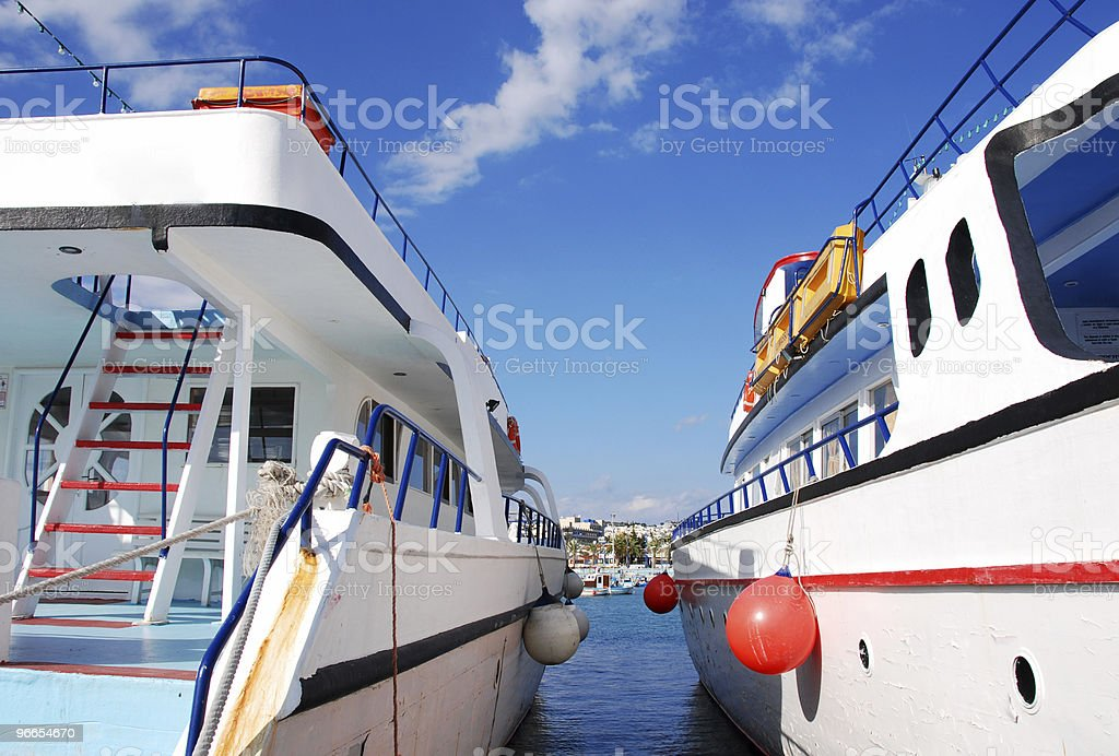 Tourist Yachts royalty-free stock photo