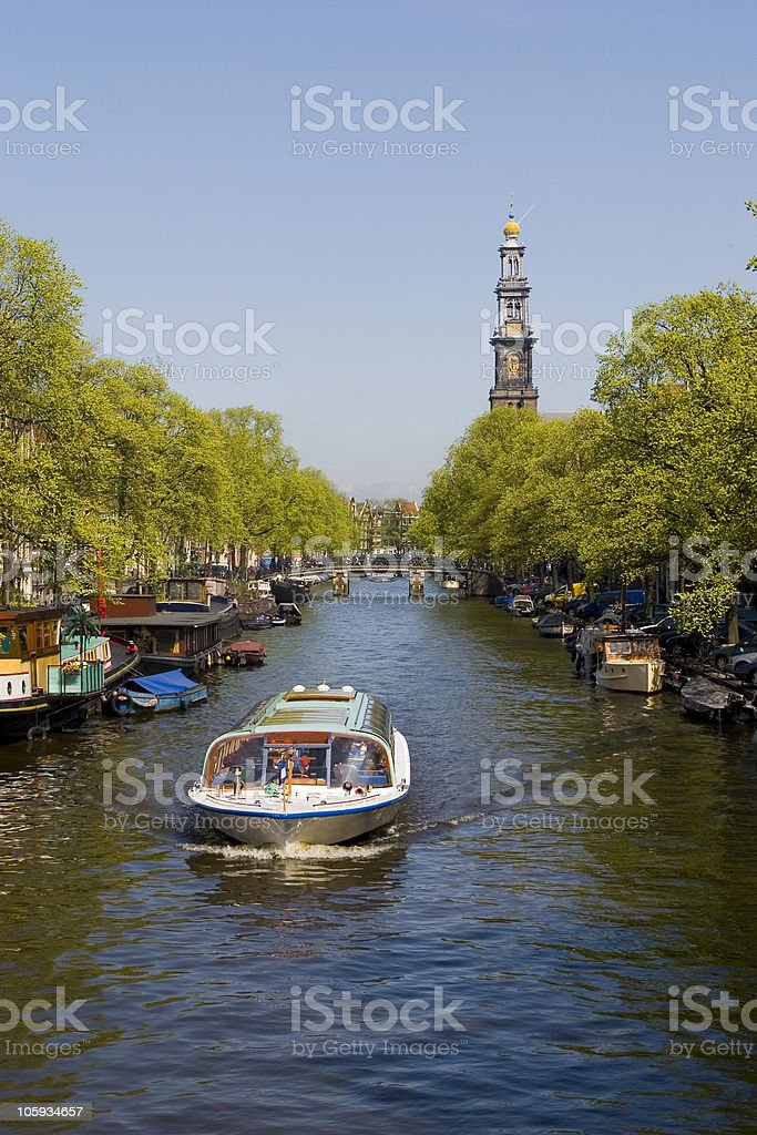 Touristic Amsterdam stock photo
