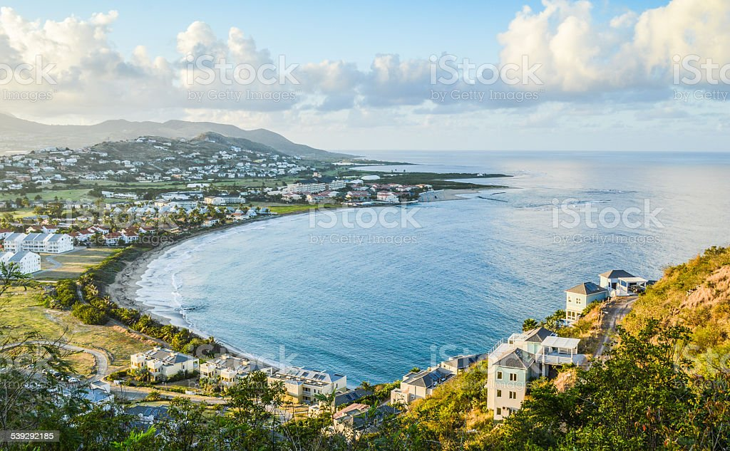 Touristic bay from above stock photo
