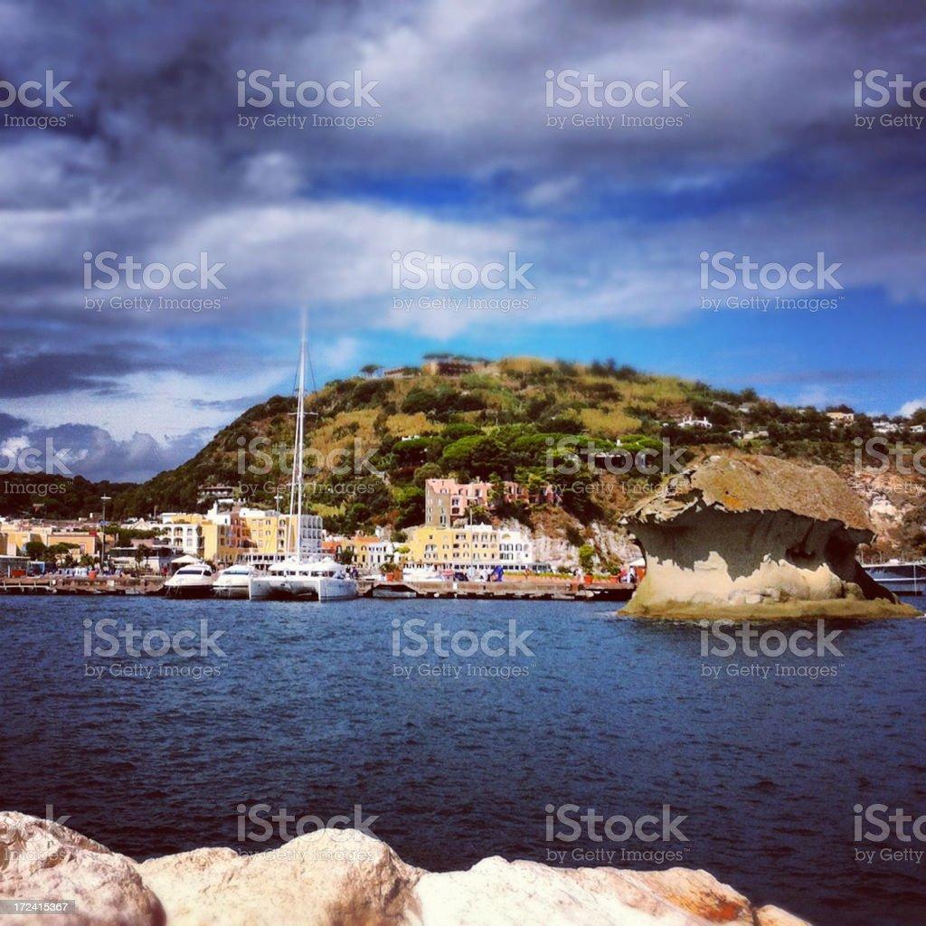 Touristic harbor in Lacco Ameno - Ischia Island royalty-free stock photo