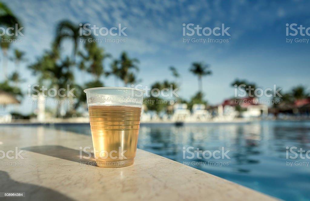 Touristic resort at caribbean stock photo