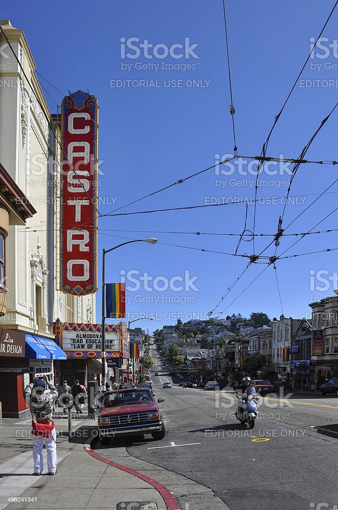 tourists and locals in Castro district - San Francisco, USA stock photo