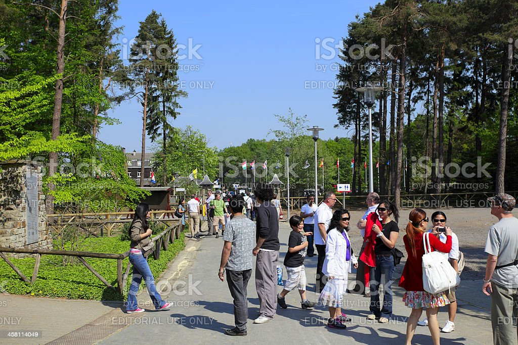 Tourists and pilgrims royalty-free stock photo