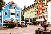 Tourists and Shops in Ortisei