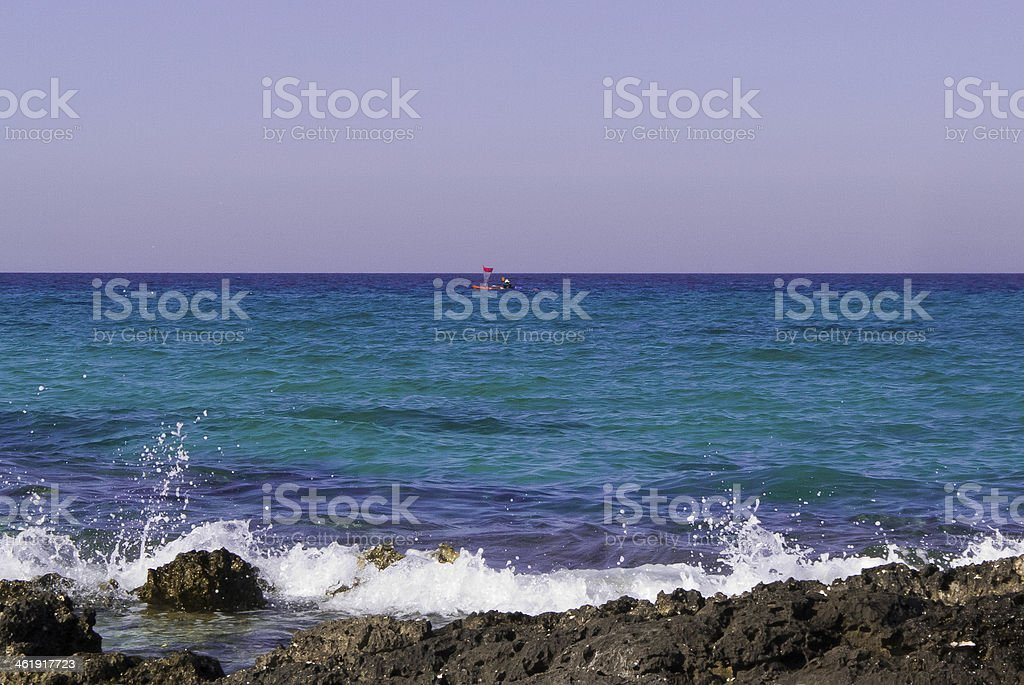 Tourists and the Adriatic coast. royalty-free stock photo
