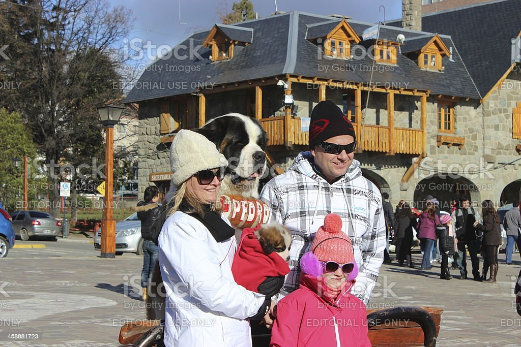 Tourists at San Carlos Bariloche - Argentina royalty-free stock photo