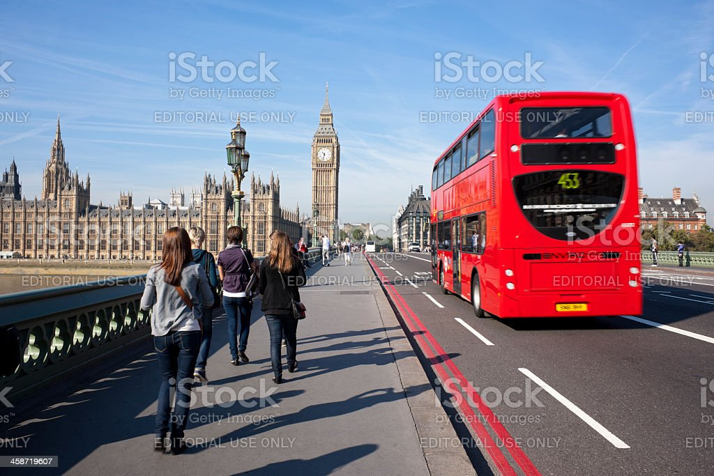 Tourists at Westminster. royalty-free stock photo