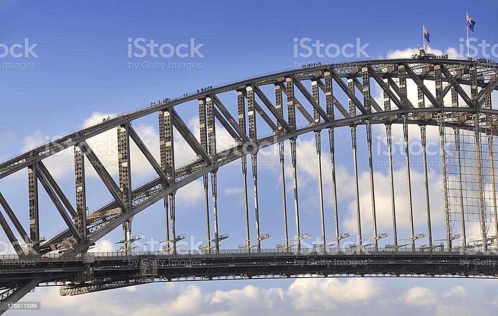 Tourists climbing the Harbour Bridge, Sydney, Australia (XXXL) royalty-free stock photo
